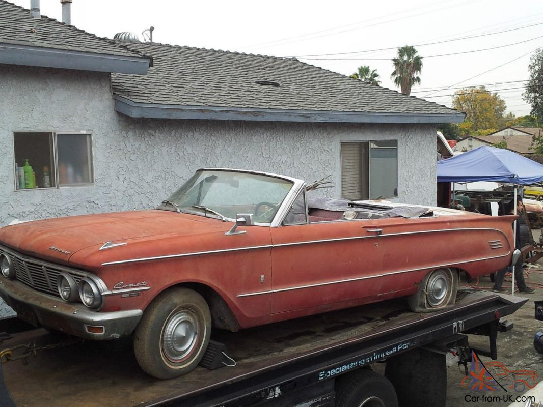 1963 Mercury Comet C Vertible 260 V8 4 Spd Ac Like Ford Xm Xp Falcon Mustang In Vic