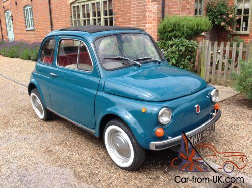 Classic Fiat 500 Beautiful Car 12 Months Mot Tax Exempt Blu Turchese