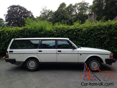 1993 Volvo 240 Se Estate Auto White Mint Tow Bar