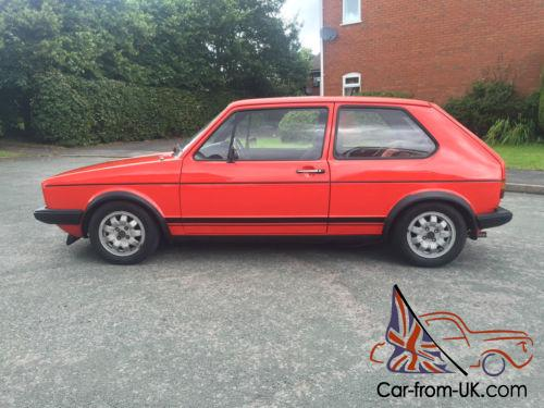 VW Golf GTi Mk1 Mars Red - MK2 16v Conversion with 5 Speed Box