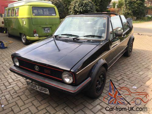 Vw Golf Mk1 Gti Convertible Cabriolet For Sale