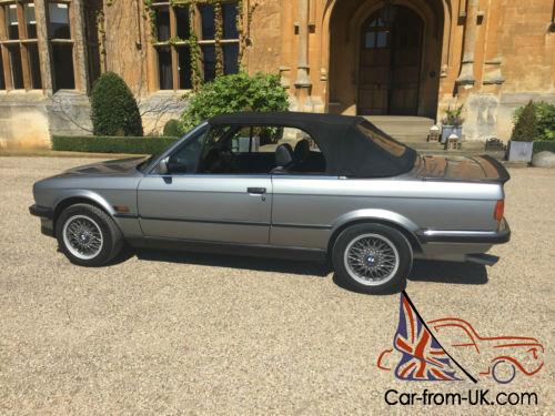 1988 Bmw 325i Cabriolet Lachs Silver Manual 5 Speed Pre Facelift Chrome Bumper