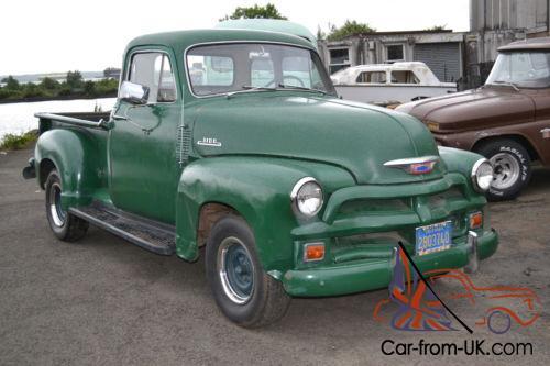 1954 Chevrolet 3100 5 Window Pickup  Uk Reg  Ready To Use