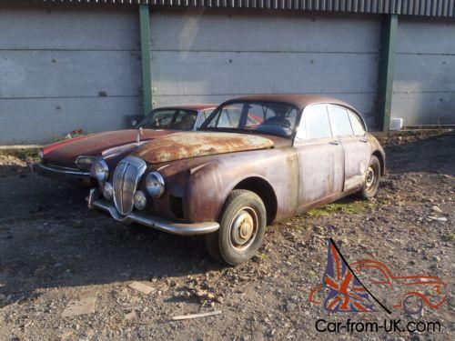 1968 Jaguar Mk2 Daimler V8 Barn Find Project 2 Owners Banger Racing