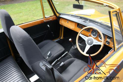 triumph vitesse convertible factory cv   lovely from hcc