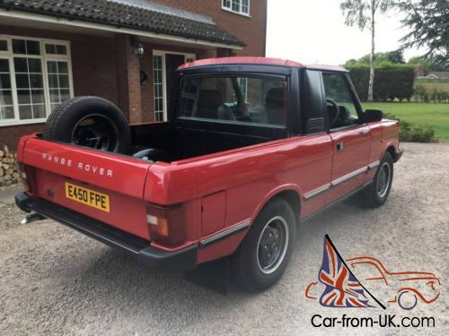 1987 RANGE ROVER CLASSIC PICK UP TRUCK CONVERSION 3 5 V8 RARE