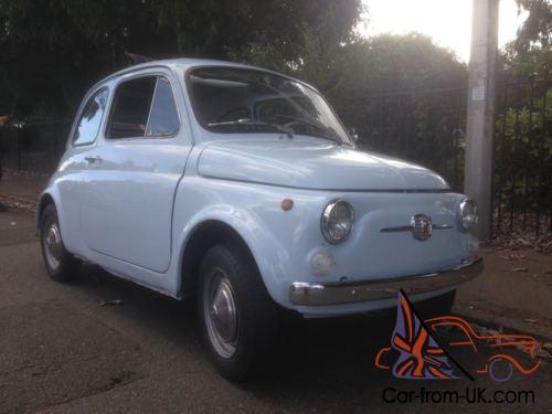 Classic Fiat 500 F 1967 Iconic Mini Italian Car Not 600 126