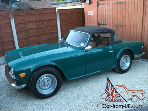 Triumph TR6, 1972, Chrome Bumpers, Tax Exempt, Heritage Certificate