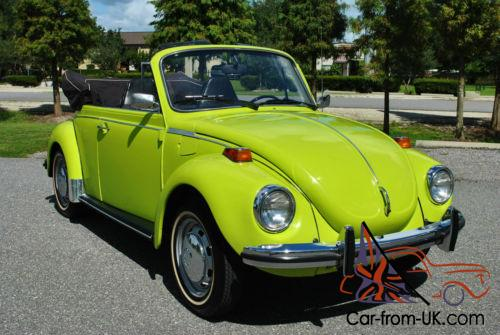 1973 Volkswagen Beetle Clic Convertible 4 Sd Red Rare Ravenna Green Photo