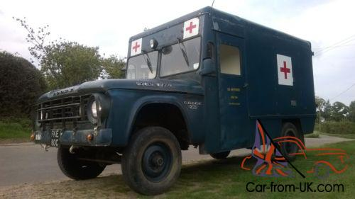 DODGE W200 4X4 MILITARY AMBULANCE CAMPER POWER WAGON 1965 DIESEL 12 MONTHS  MOT