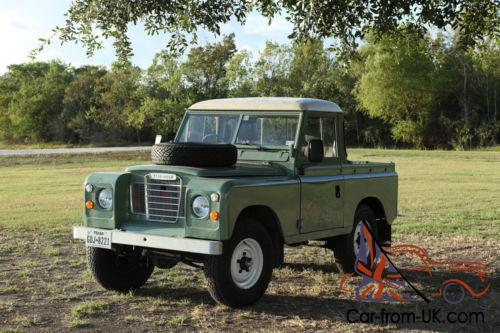 Land Rover Truck >> 1984 Land Rover Series 3 Swb Swb Truck Cab