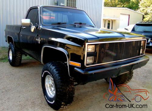 1985 chevy 4x4 truck block lifted gmc frame chevrolet silverado sierra k10 c10 700r4 reciepts 1500 k1500 ac 16k