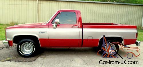 1982 Chevrolet C 10 C 10 Swb Truck Carmine Custom Gmc Other Silverado