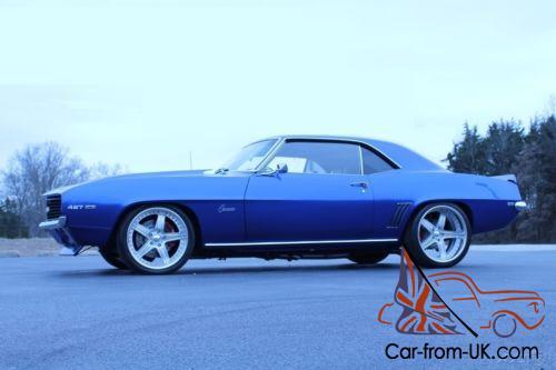 SS horn Nova Camaro Chevelle El Camino  Blue /& Billet Steering Wheel
