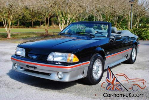 1989 Ford Mustang Gt 5 0 Ho Convertible 58 625 Original Miles