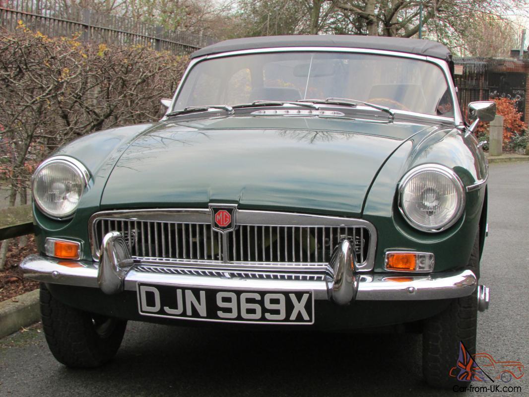 Mg Mgb Sports Convertible Britishracinggreen Ebay Motors 221234910202