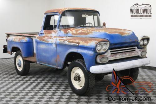 1959 Chevrolet 3100 ULTRA RARE 3/4 TON NAPCO CA TRUCK V8 RARE