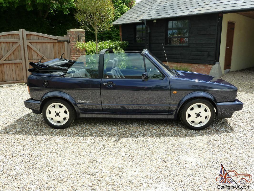 1993 Volkswagen Mk1 Golf Gti Rivage Karmann Cabriolet Ltd Edt Met Blue