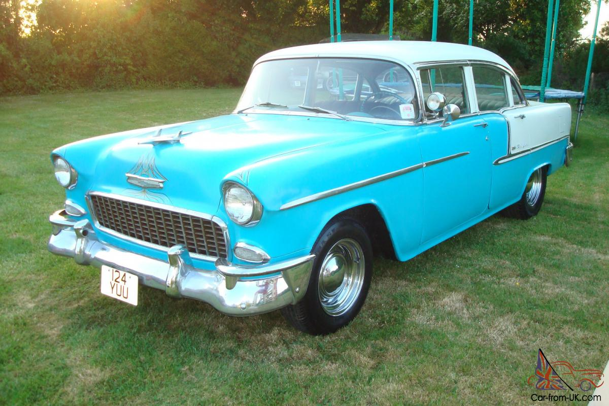 All Chevy 55 chevy for sale cheap : 1955 CHEVROLET BELAIR 283/V8 MANUAL 4-DOOR...BARGAIN