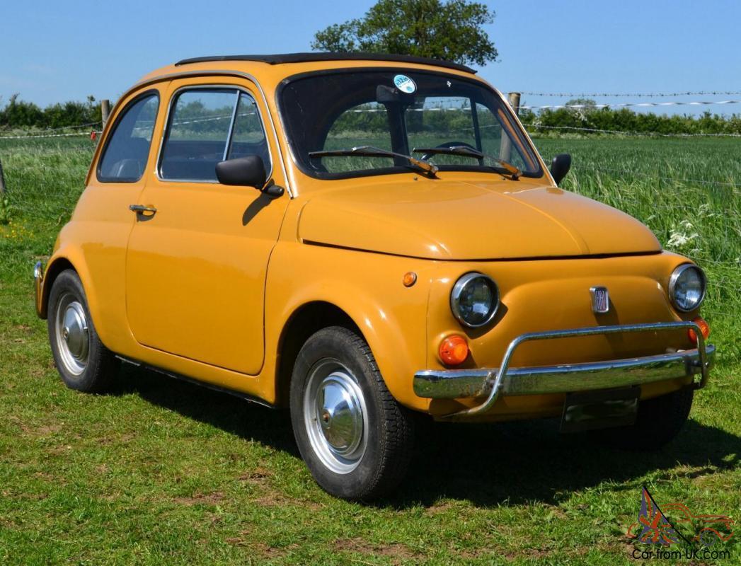 1970 Fiat 500l Original Classic In Positano Yellow