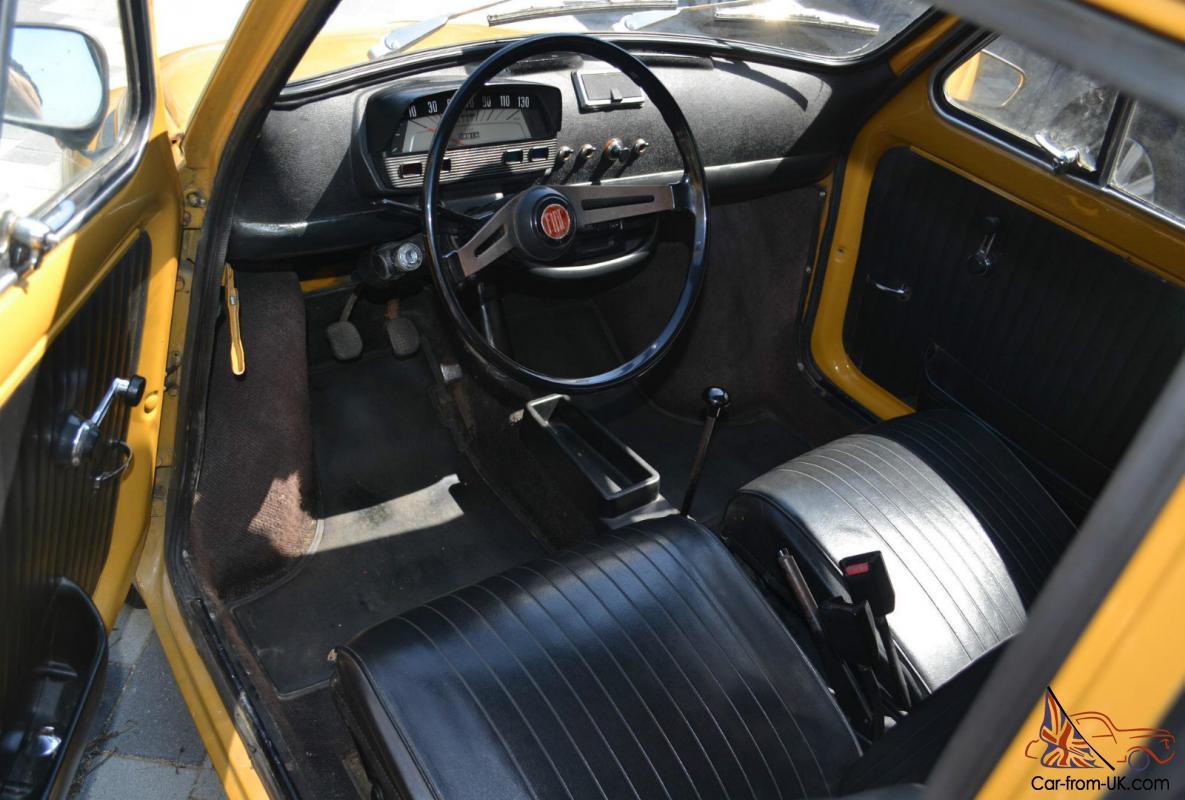 1970 Fiat 500L Original Classic, in Positano Yellow,