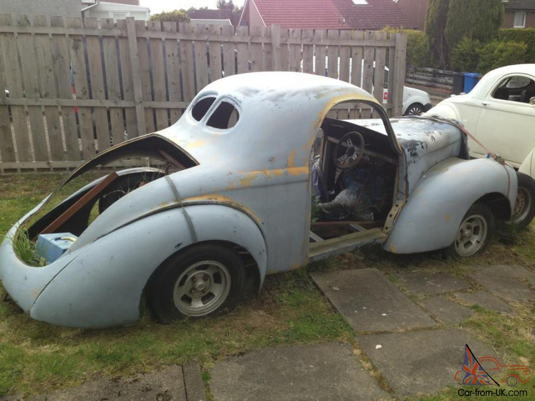 WILLYS COUPE HOT ROD PROJECT V8 SHELL CHASSIS TAX EXEMPT V5