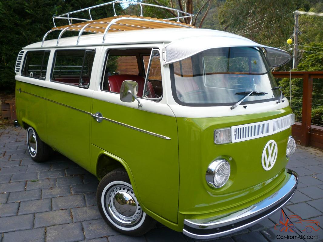 Vw Kombi Microbus Deluxe Restored Van Vintage Retro Surf