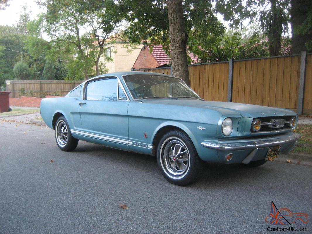 Tahoe turquoise 1966 mustang gt fastback 4 speed pony trim ford