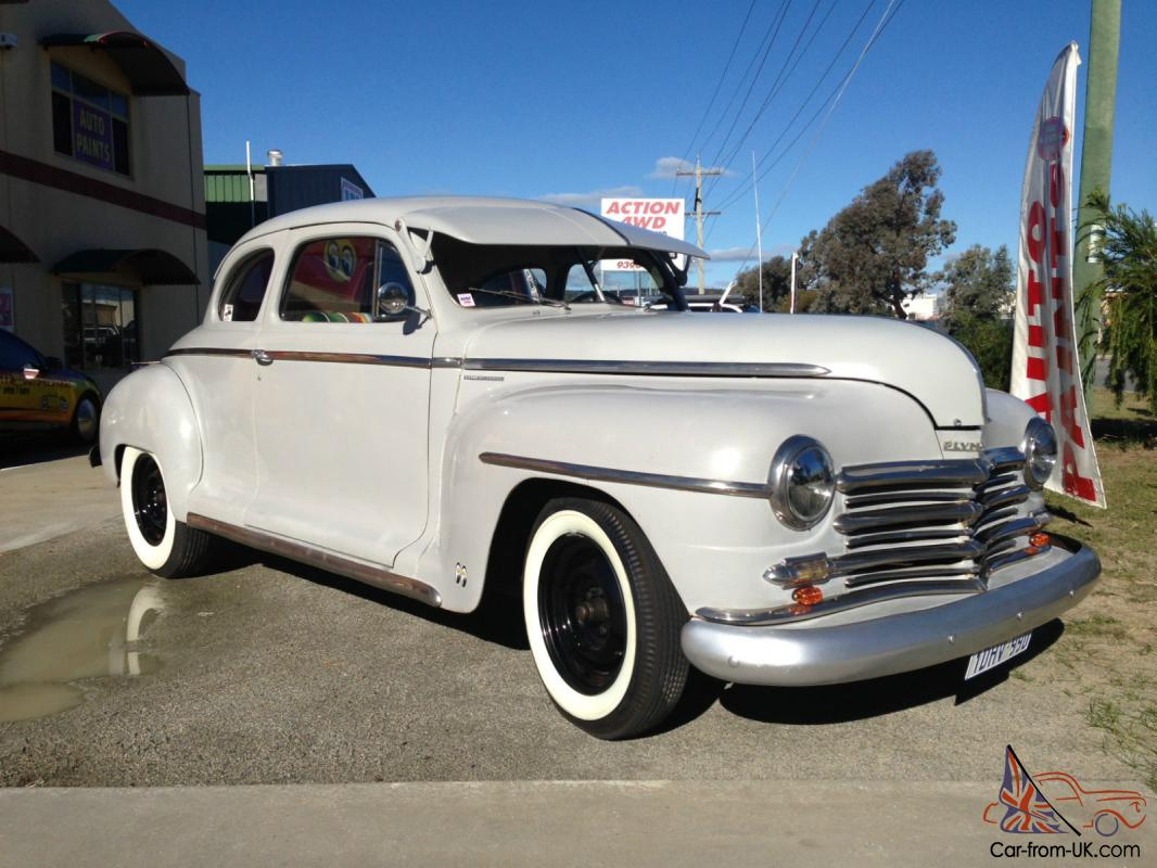 1946 Plymouth Coupe Left Hand Drive Full Wa Rego Hot Rod Dodge Mopar Ford Chev