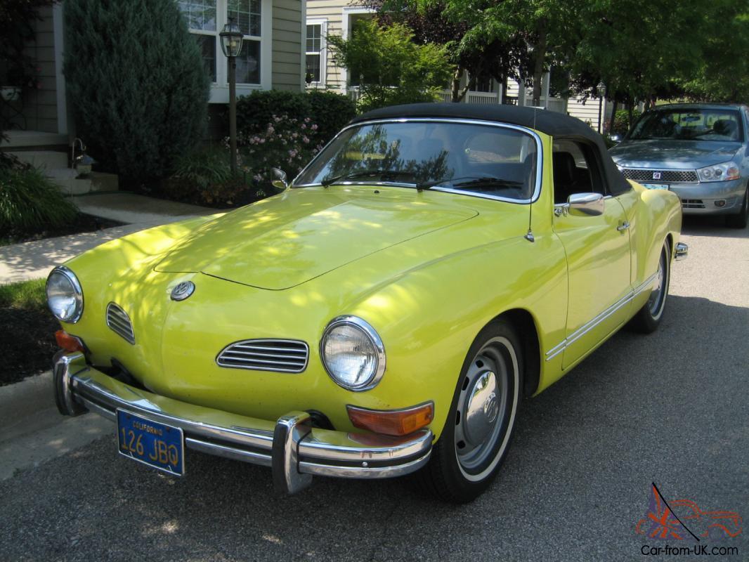 1973 Vw Karmann Ghia Convertible One Owner California Car For 38 Years
