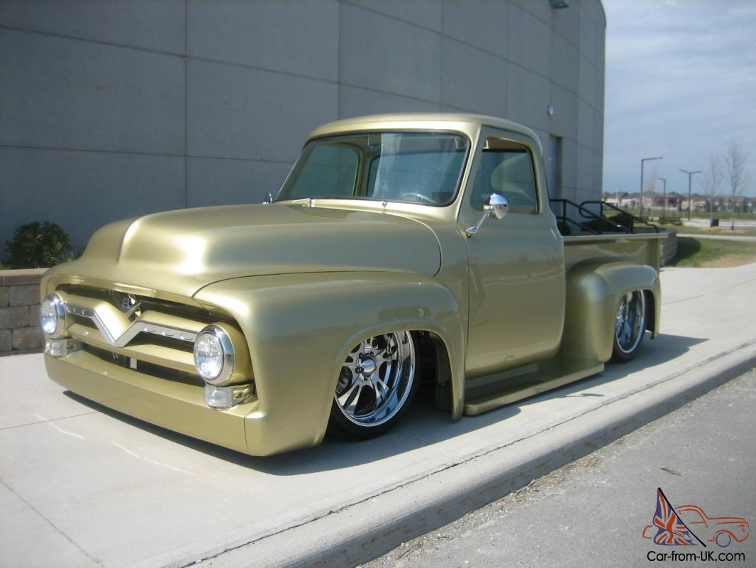 1955 Ford F100 Show Truck Seen On The Cover May 2013 Custom Classic Wheels Trucks