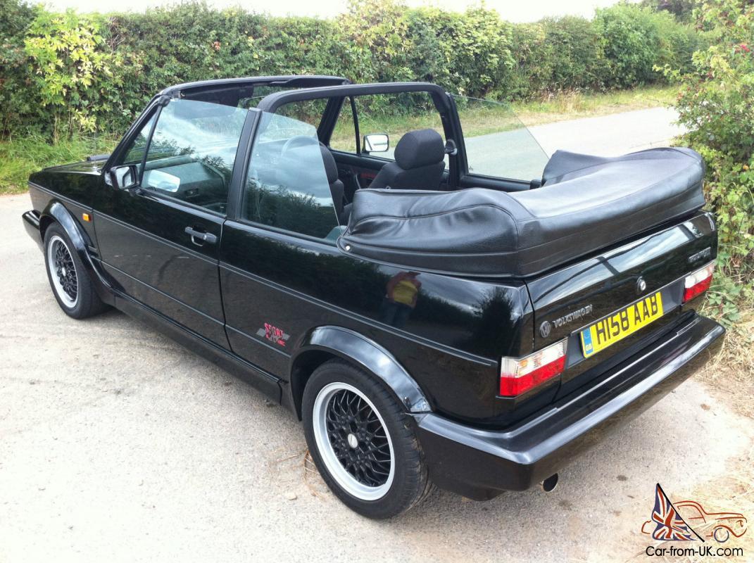 Vw Rare Golf Gti Sportline Black 1991 Bbs Mohair Convertible History Cabriolet