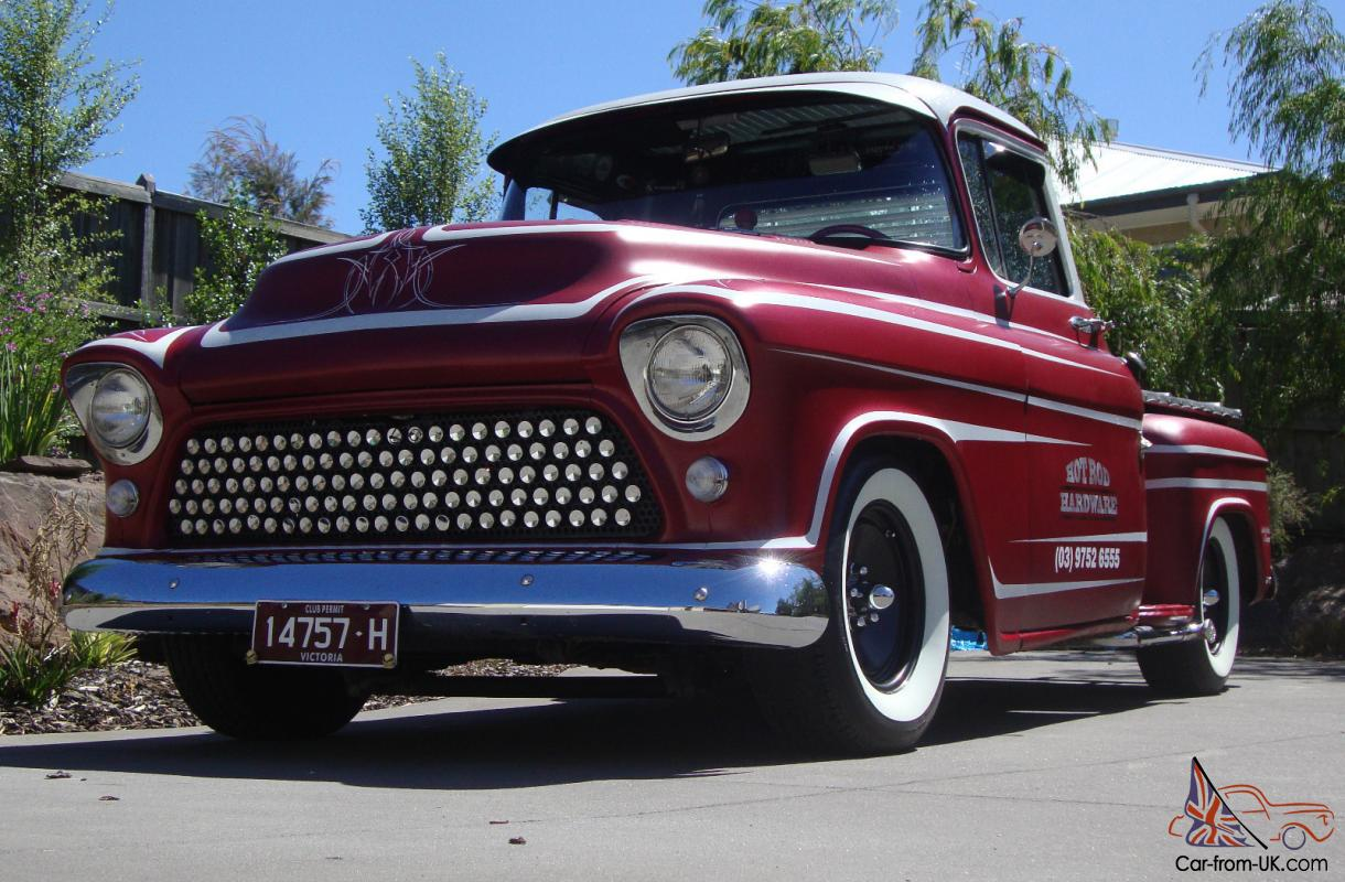 55 Chevy Pickup Custom RAT ROD Shop Truck NOT F100 GMC Ford
