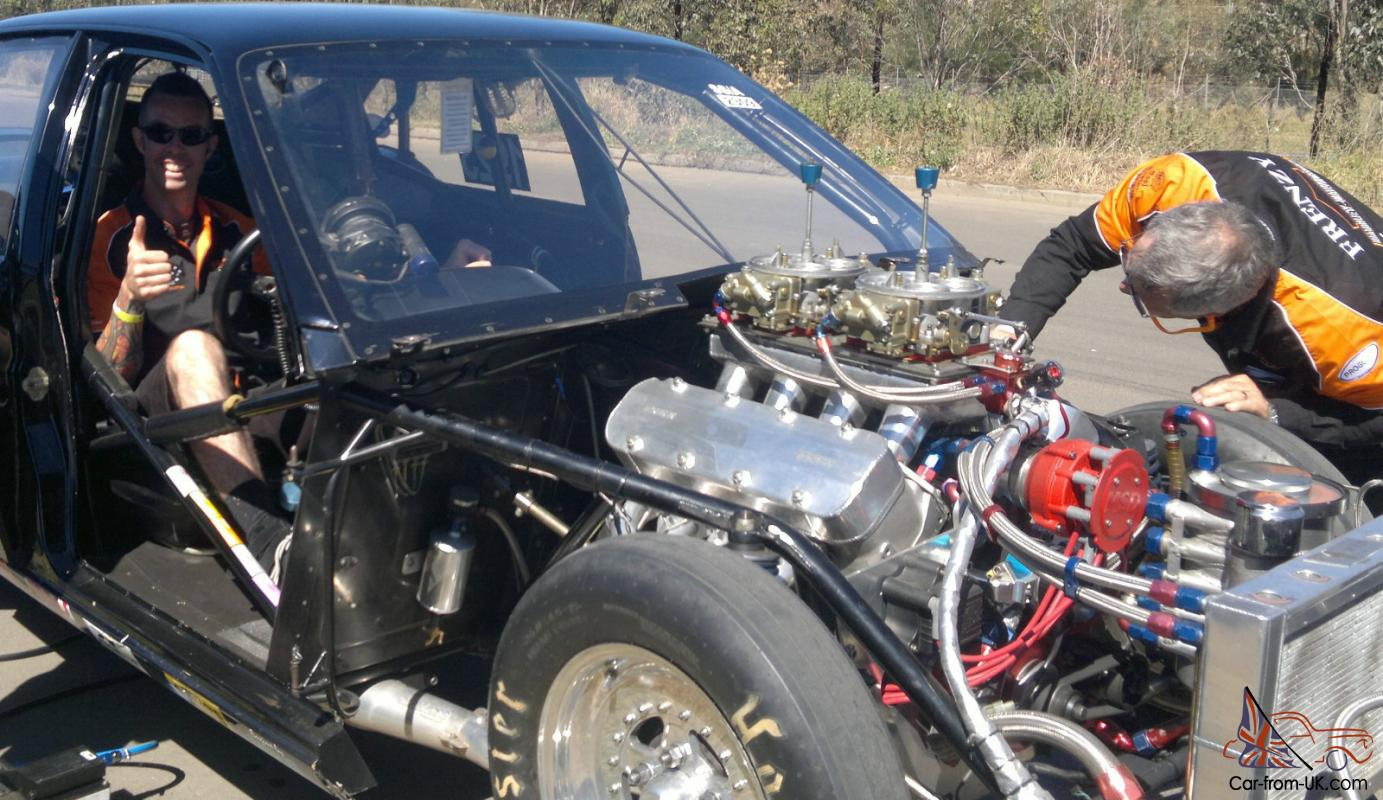 VN Commodore Drag CAR Full Chromoly Tube Chassis Complete Roller