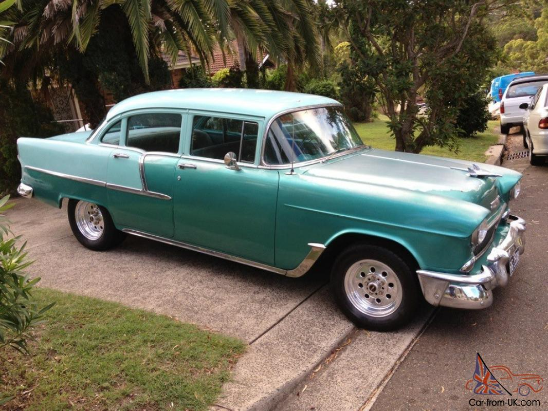 All Chevy 55 chevy for sale : Chevy 1955 Chevrolet 55 Chev 210 4 Door Sedan Weld Wheels