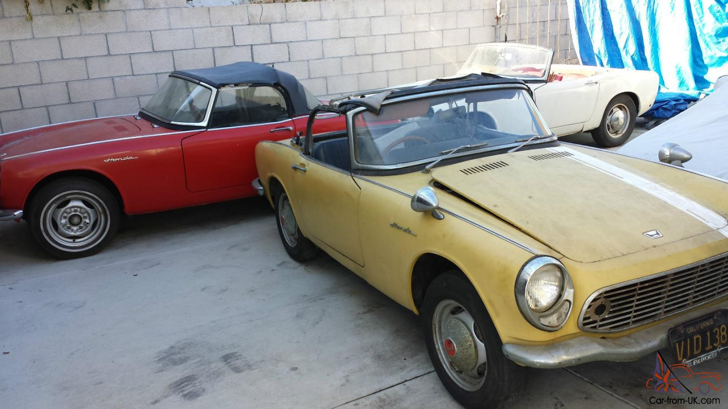 Honda S600 For Sale >> 1965 Honda S600 Lot Of 3