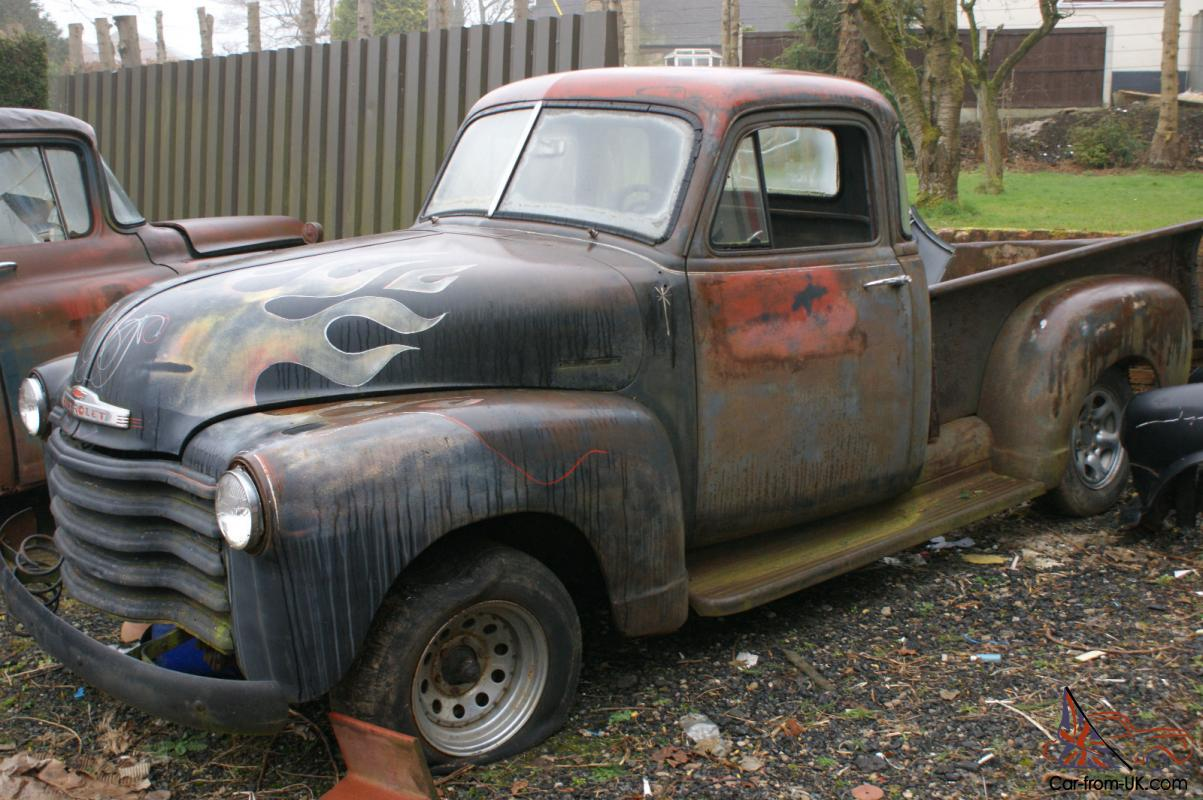 Pickup 1952 chevy pickup for sale : CHEVY 3100 STEPSIDE PICKUP 1952 PROJECT SPLIT SCREEN 5 WINDOW