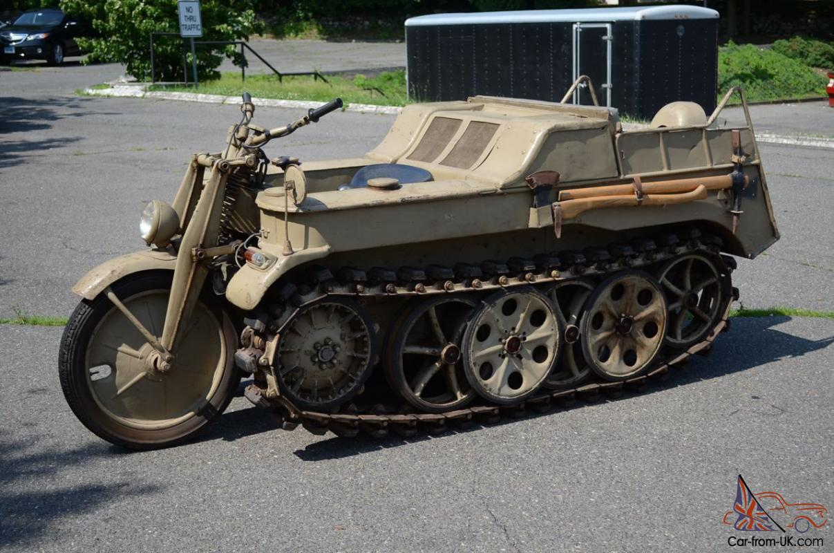 1944 Kettenkrad German WW2 Halftrack motorcycle