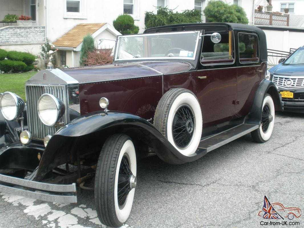 1928 Phantom 1 Rolls Royce Springfield And Brewster
