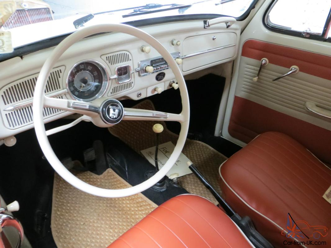 1963 VOLKSWAGEN 1200 BEETLE WHITE VW BUG CAMPER HISTORIC CLASSIC TAX EXEMPT