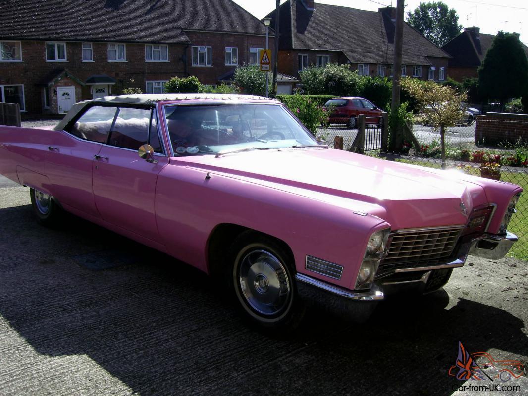 4 Door Convertible >> 1967 1966 Cadillac Pink 4 Door Convertible Sedan Deville Elvis Look