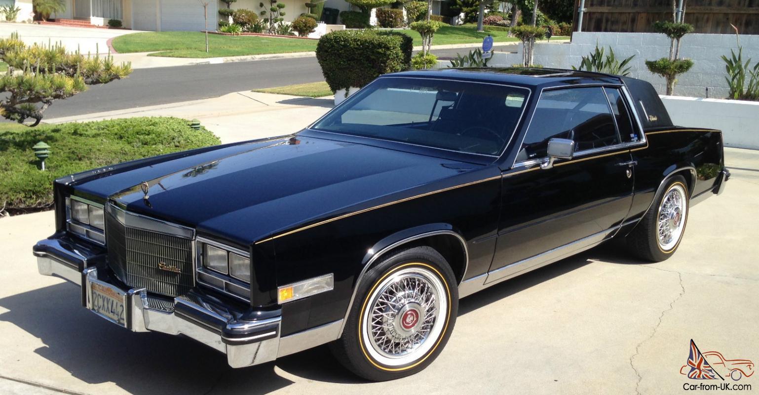 1983 CADILLAC ELDORADO - black on black/ gold package - collector condition