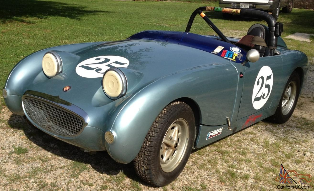 Running 1959 Bugeye Sprite Vintage Race Car or Return to Street, Excellent  Body