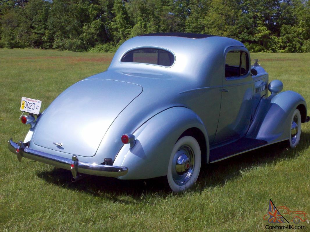 37 Packard 3 Window Business Coupe Light Blue