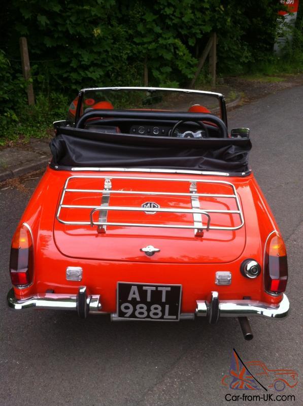 MG MIDGET RED 1972 ROUND WHEEL ARCH 1275CC STUNNING