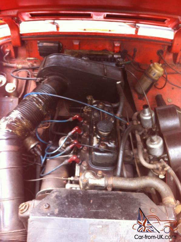 The Classic Car Finder - 1972 MG MIDGET MK3. ROUND WHEEL