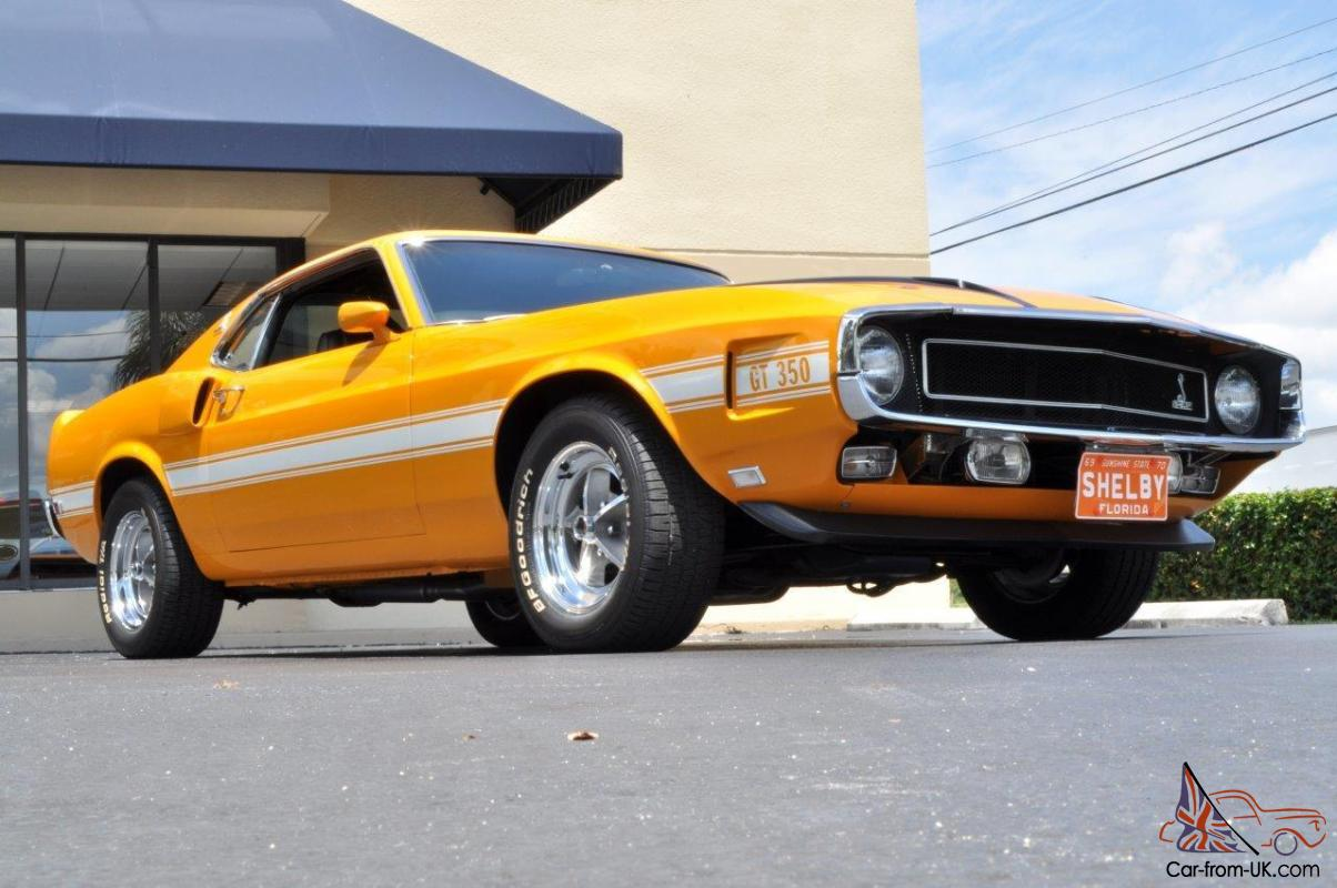 Low miles shelby mustang gt 350 special order grabber orange with a c