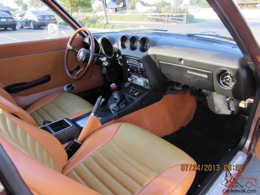 Restored 1973 Datsun 240z Brown 5 speed Documents(260z 280z 240sx 350z  Fairlady)