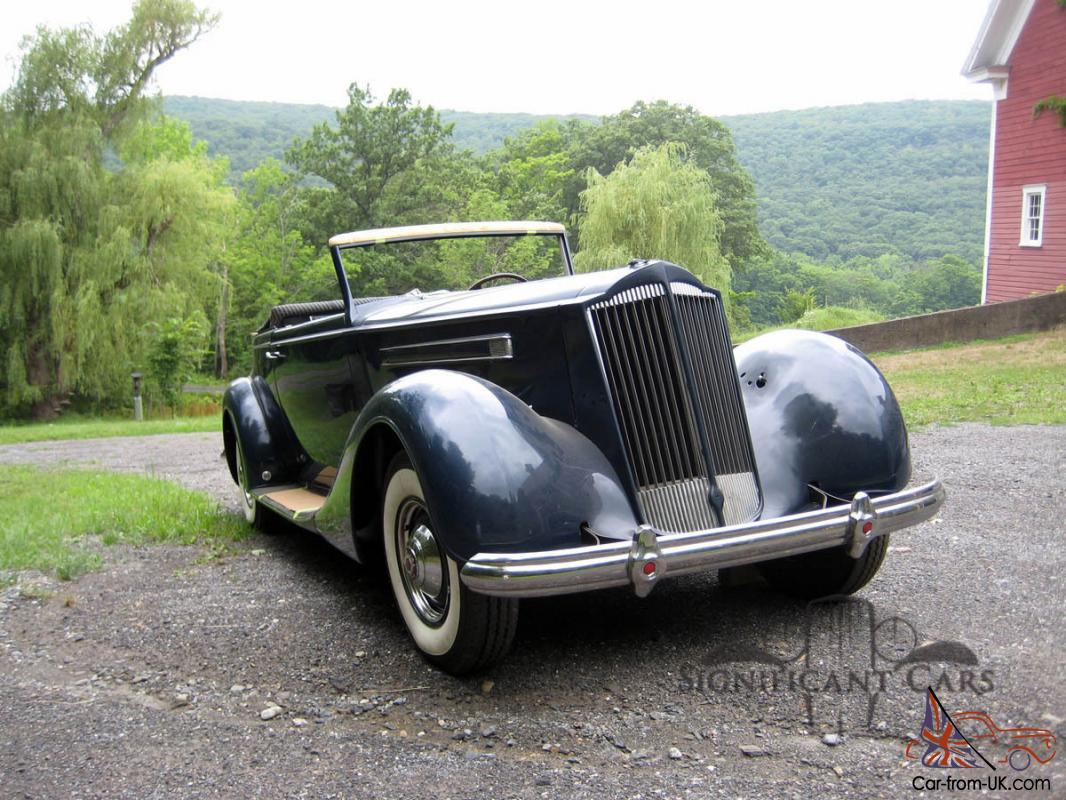 1937 Packard 12 Convertible Victoria - Easy Finish!