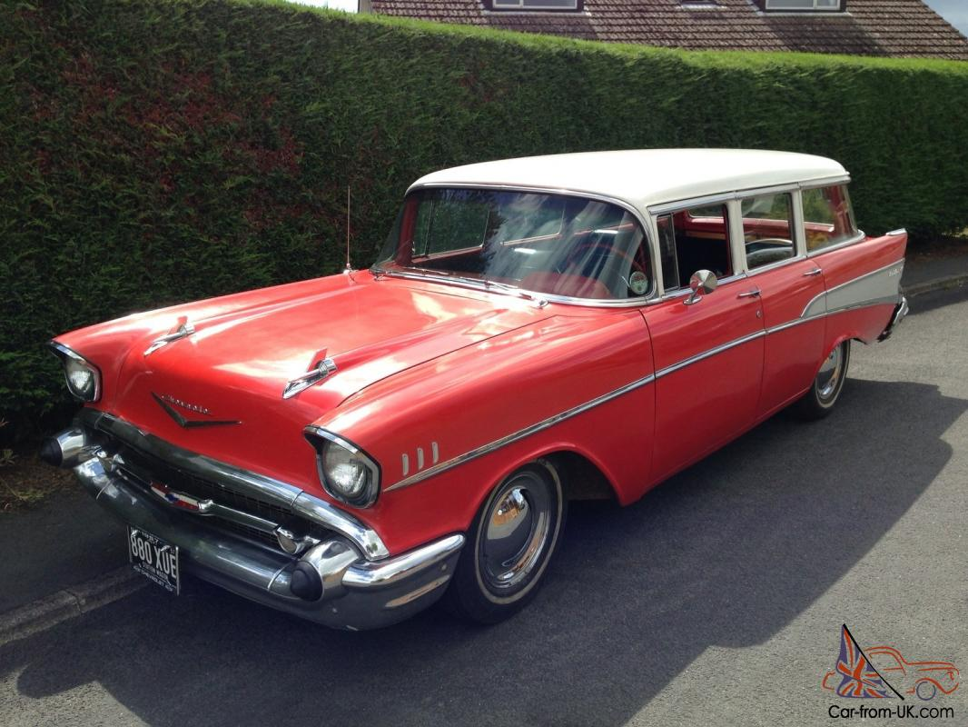 All Chevy 1957 chevy wagon for sale : 1957 CHEVROLET BEL AIR 210 STATION WAGON V8 AUTO SURF HOT ROD 1955 ...
